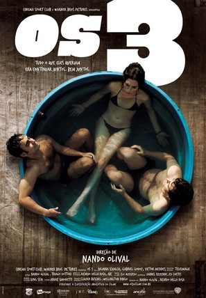 Os 3 - Brazilian Movie Poster (thumbnail)