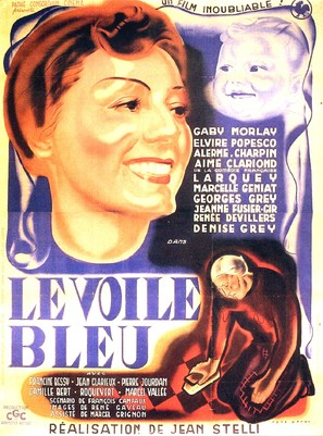 Le voile bleu - French Movie Poster (thumbnail)
