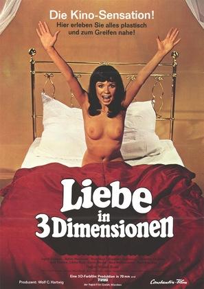 Liebe in drei Dimensionen - German Movie Poster (thumbnail)