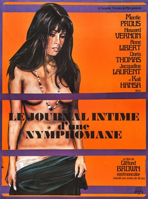 Le journal intime d'une nymphomane - French Movie Poster (thumbnail)