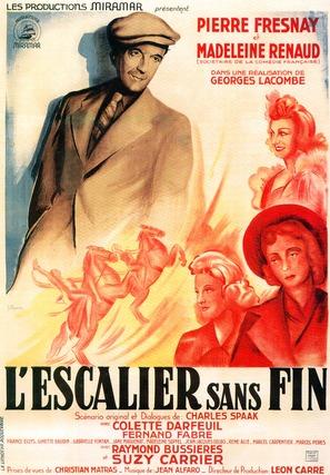 Escalier sans fin, L' - French Movie Poster (thumbnail)