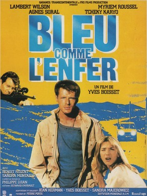 Bleu comme l'enfer - French Movie Poster (thumbnail)