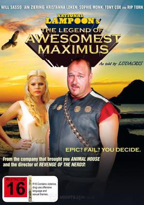 The Legend of Awesomest Maximus - New Zealand DVD movie cover (thumbnail)