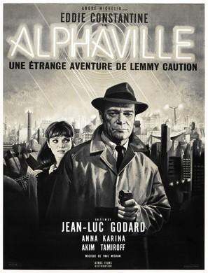 Alphaville, une étrange aventure de Lemmy Caution - French Movie Poster (thumbnail)