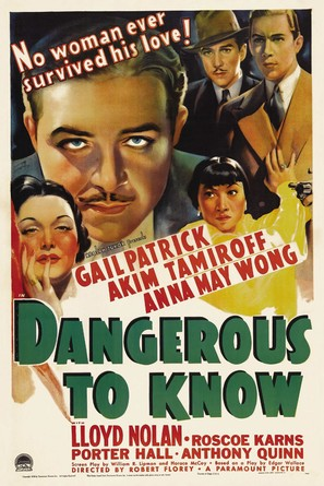Dangerous to Know - Movie Poster (thumbnail)
