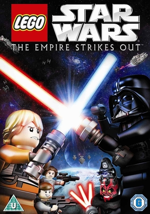 Lego Star Wars: The Empire Strikes Out - British DVD movie cover (thumbnail)