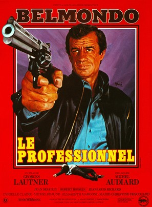 Le professionnel - French Movie Poster (thumbnail)