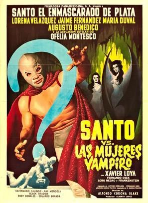 Santo vs. las mujeres vampiro - Mexican Movie Poster (thumbnail)