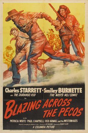 Blazing Across the Pecos - Movie Poster (thumbnail)