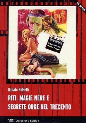 Riti, magie nere e segrete orge nel trecento - Italian DVD cover (thumbnail)