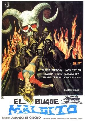 El buque maldito - Spanish Movie Poster (thumbnail)