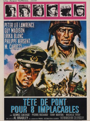 Testa di sbarco per otto implacabili - French Movie Poster (thumbnail)