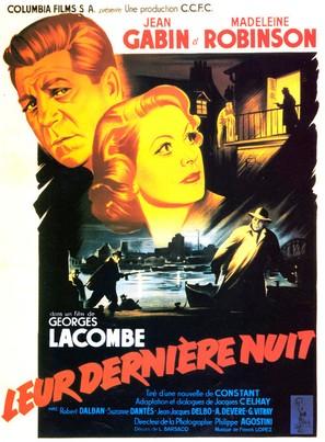 Leur dernière nuit - French Movie Poster (thumbnail)