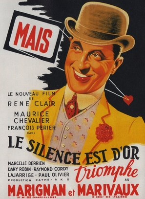 Le silence est d'or, Le - French Movie Poster (thumbnail)