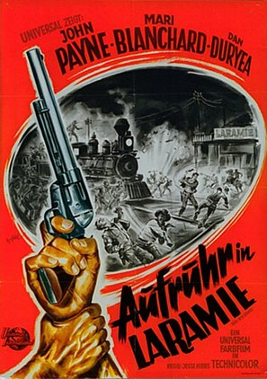 Rails Into Laramie - German Movie Poster (thumbnail)