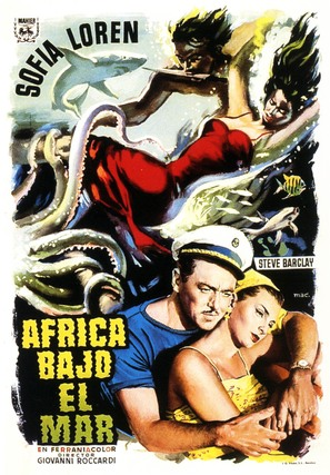 Africa sotto i mari - Spanish Movie Poster (thumbnail)