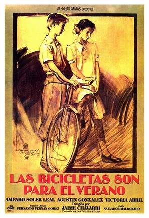 Las bicicletas son para el verano - Spanish Movie Poster (thumbnail)