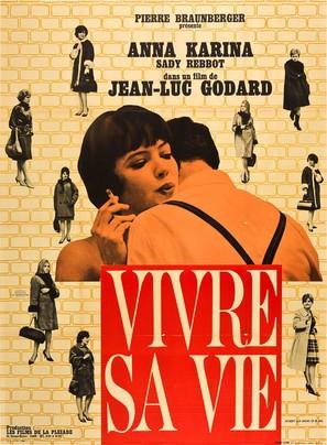 Vivre sa vie: Film en douze tableaux - French Movie Poster (thumbnail)