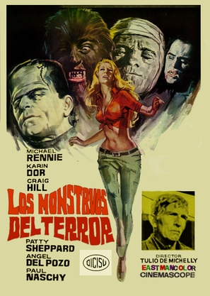 Los monstruos del terror - Spanish Movie Poster (thumbnail)
