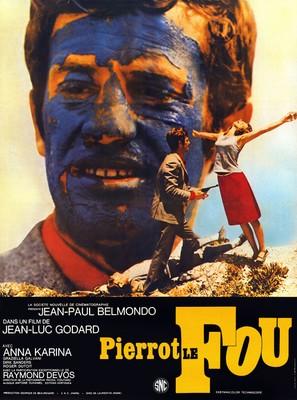 Pierrot le fou - French Movie Poster (thumbnail)