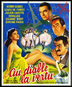 Au diable la vertu - French Movie Poster (thumbnail)