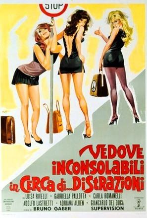 Vedove inconsolabili in cerca di... distrazioni - Italian Movie Poster (thumbnail)