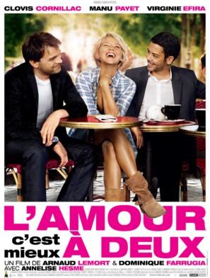 L'amour, c'est mieux à deux - French Movie Poster (thumbnail)