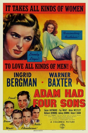 Adam Had Four Sons - Movie Poster (thumbnail)