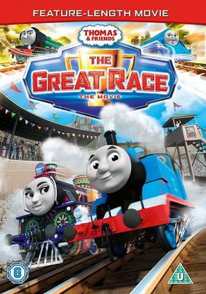 Thomas & Friends: The Great Race - British DVD movie cover (thumbnail)