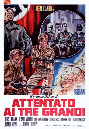 Attentato ai tre grandi - Italian Movie Poster (thumbnail)