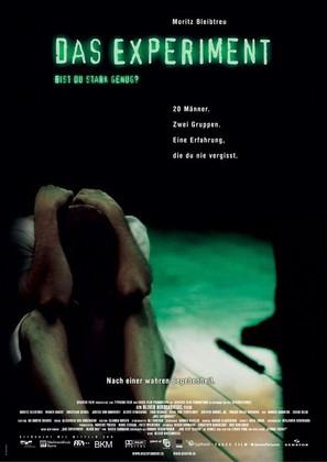 Das Experiment - German Movie Poster (thumbnail)