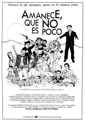 Amanece, que no es poco - Spanish Theatrical movie poster (thumbnail)