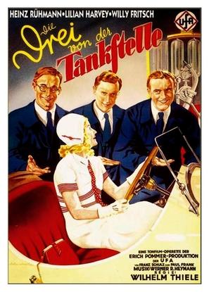 Die drei von der Tankstelle - German Movie Poster (thumbnail)