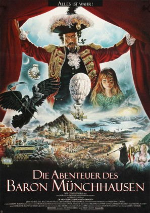 The Adventures of Baron Munchausen - German Movie Poster (thumbnail)