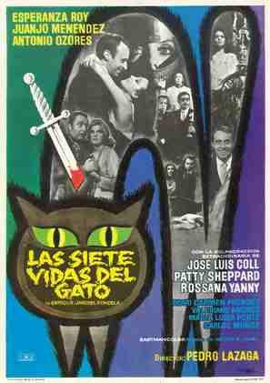 Las siete vidas del gato - Spanish Movie Poster (thumbnail)