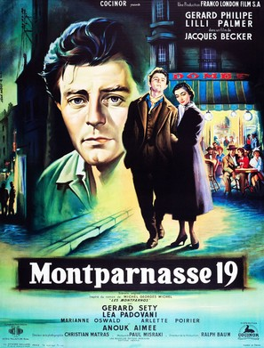 Amants de Montparnasse (Montparnasse 19), Les - French Movie Poster (thumbnail)