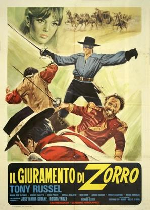El Zorro cabalga otra vez - Italian Movie Poster (thumbnail)