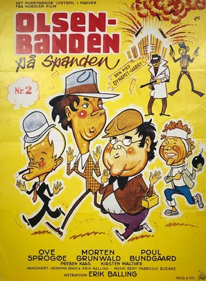 Olsen-banden på spanden - Danish Movie Poster (thumbnail)