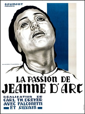 La passion de Jeanne d'Arc - French Movie Poster (thumbnail)
