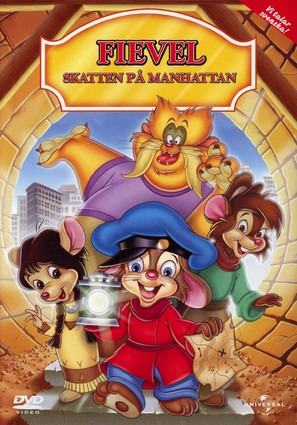 An American Tail: The Treasure of Manhattan Island - Swedish Movie Cover (thumbnail)