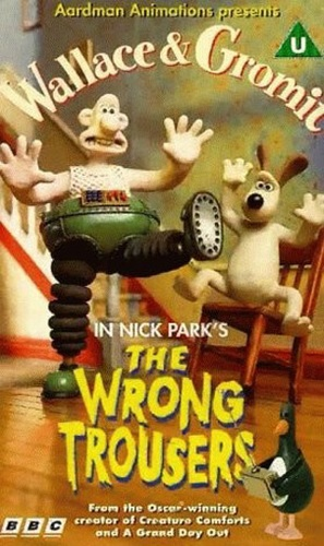 The Wrong Trousers - British VHS movie cover (thumbnail)
