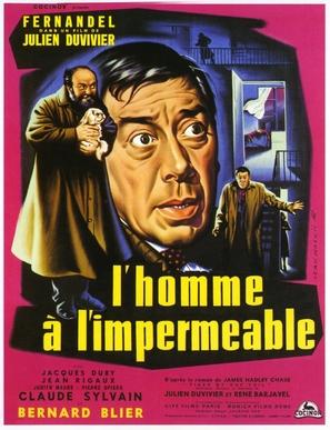 L'homme à l'imperméable - French Movie Poster (thumbnail)