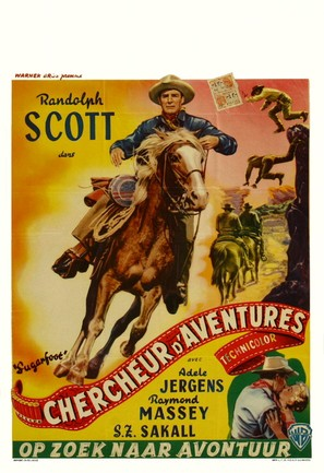 Sugarfoot - Belgian Movie Poster (thumbnail)