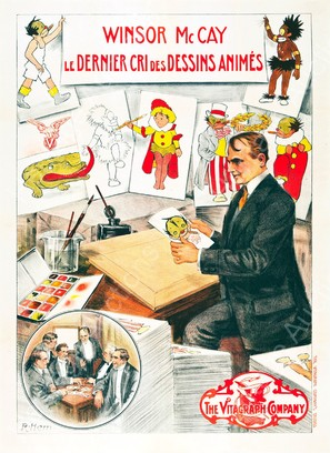 Winsor McCay, the Famous Cartoonist of the N.Y. Herald and His Moving Comics - French Movie Poster (thumbnail)