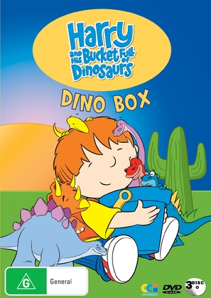 """Harry and His Bucket Full of Dinosaurs"" - Australian DVD cover (thumbnail)"