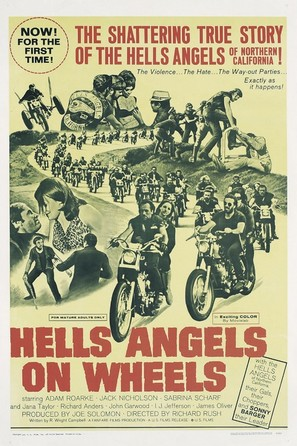 Hells Angels on Wheels - Movie Poster (thumbnail)