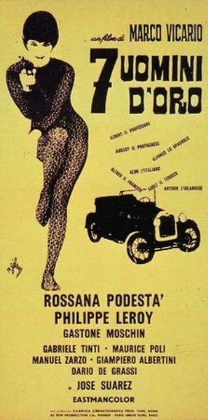 Sette uomini d'oro - Italian Movie Poster (thumbnail)