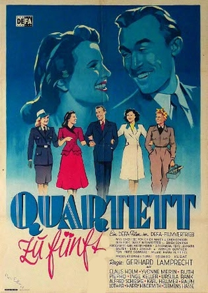 Quartett zu fünft - German Movie Poster (thumbnail)