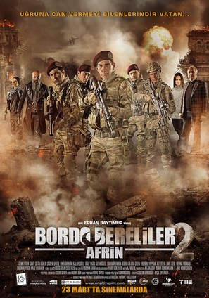 Bordo Bereliler Afrin - Turkish Movie Poster (thumbnail)