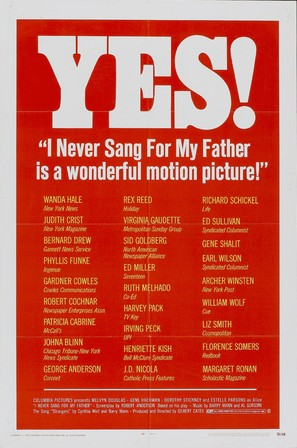 I Never Sang for My Father - Movie Poster (thumbnail)